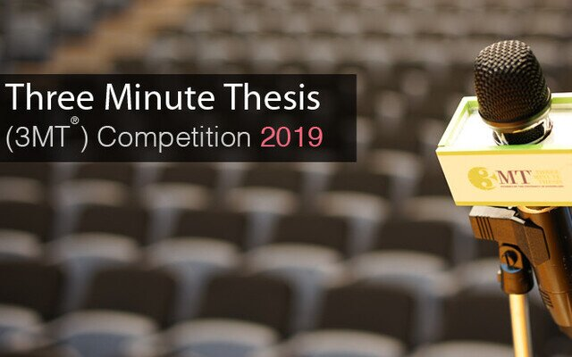 Register NOW: HKU Three Minute Thesis (3MT®) Competition 2019