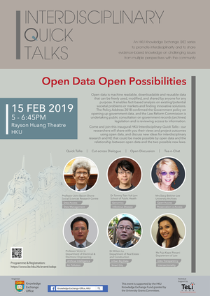 Interdisciplinary Quick Talks: Open Data Open Possibilities