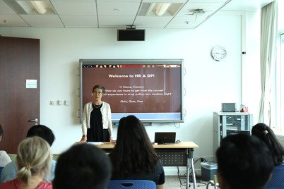 Professor Karen Laidler giving a talk at the Human Rights and Drug Policy Workshop in East and Southeast Asia 2018 jointly organised by the Centre for Criminology and Open Society Foundation at HKU in October 2018