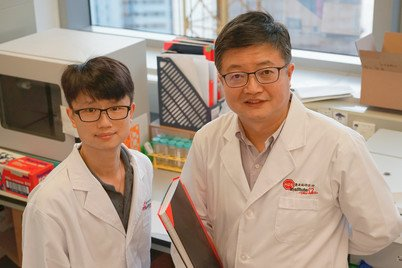 Professor Zhiwei Chen (right) and his Post-doctoral Fellow, Dr Michael YC Wong