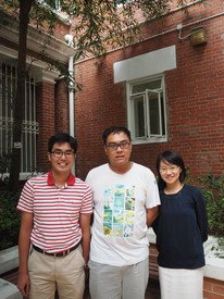Carol has two colleagues with high-functioning ASD (left: David and middle: Chris) to assist with her research projects.