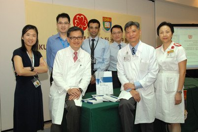 Professor Kwong Yok-lam (front row, second from left) and the Haematology Team of the Department of Medicine introduced the first unified Haematology Protocol in HK