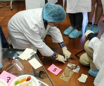 JSI participants at a forensic science workshop