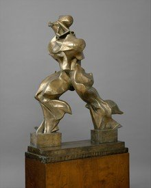 Examples of works of art discussed in Professor Clarke's online lecture series - Umberto Boccioni, Unique forms of continuity in space (1913), bronze, Metropolitan Museum of Art, New York