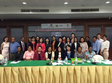 Professor Nirmala Rao (fourth from left in the front row) at the EAP-ECDS Dissemination Workshop in Bangkok